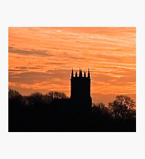 church sihouette Photographic Print