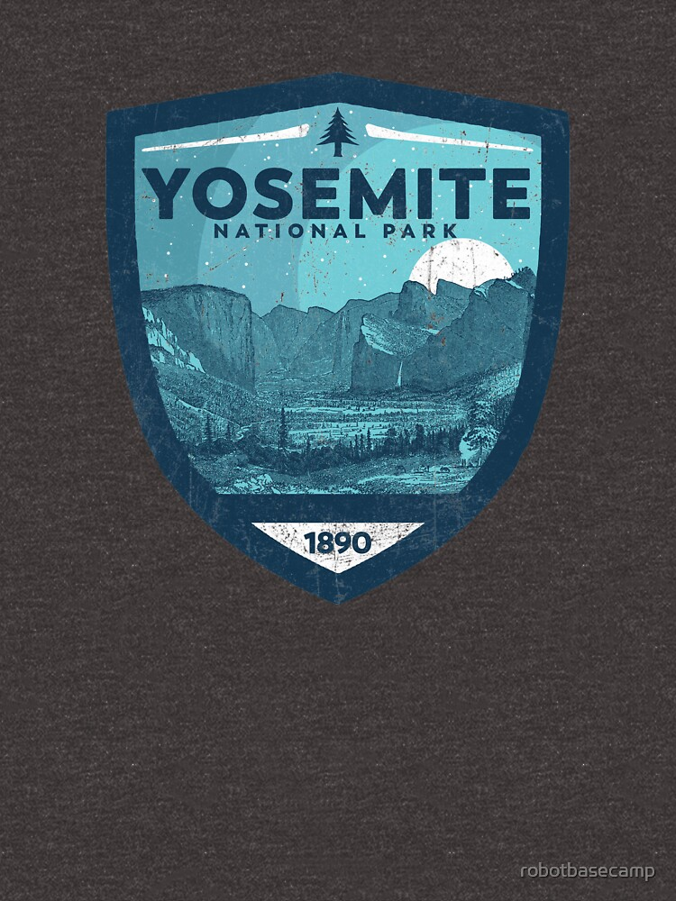 Yosemite National Park Vintage Night Skyy Badge Design by robotbasecamp