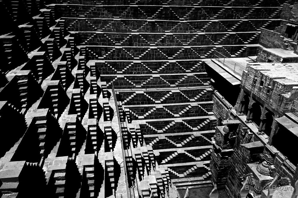 Patterns of the Stepwell by Barbara  Brown