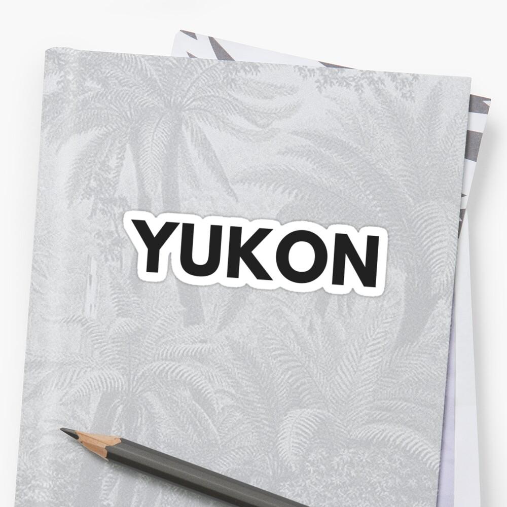 YUKON • BLACK • BOLD by kassander