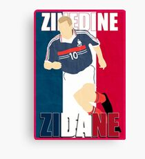 Zidane Canvas Print