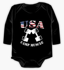Camp Muscle Bodybuilding New CAMP MUSCLE USA CAMP One Piece - Long Sleeve