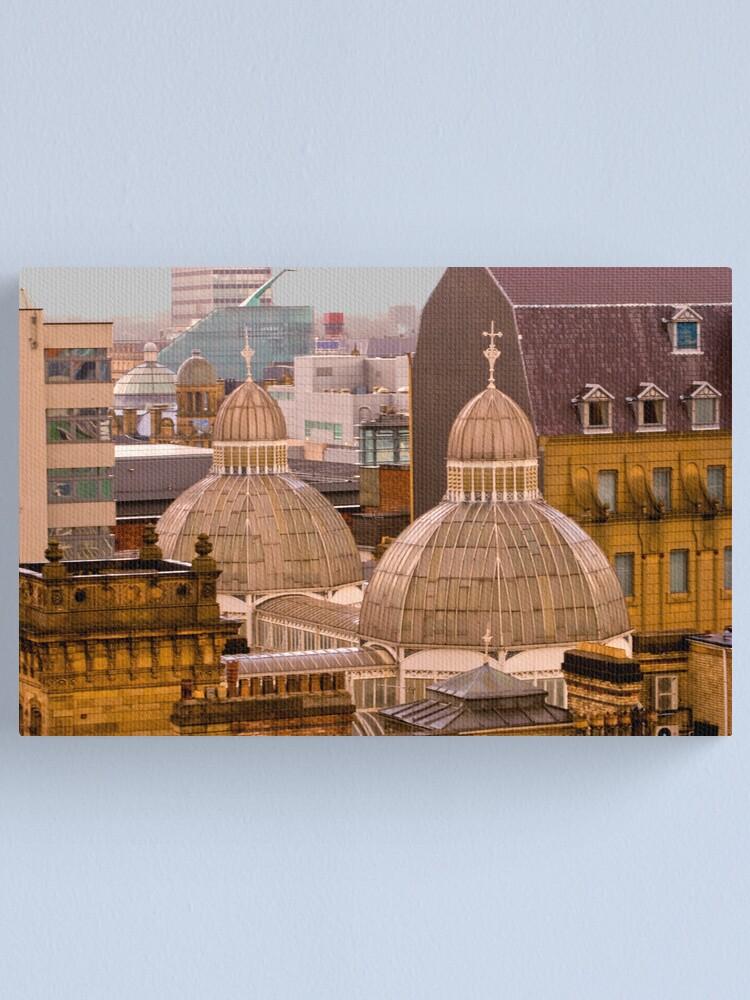 Alternate view of Barton Arcade roof, Manchester city centre Canvas Print