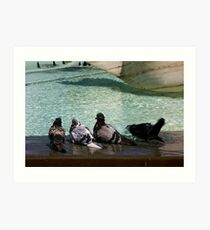 A Day At The Swimming Pool Art Print