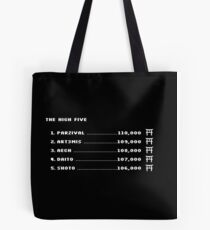 The High Five (White Text) Tote Bag