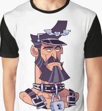 Leather Bear Man portrait Graphic T-Shirt