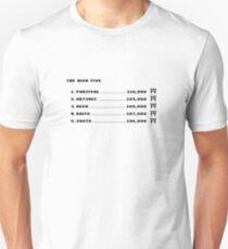 Die hohen Fünf (schwarzer Text) Unisex T-Shirt