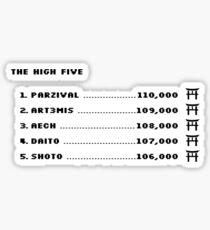 The High Five (Black text) Sticker