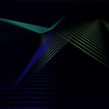 Black geometric art by soycarola