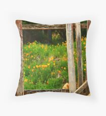 Hill End Poppies Throw Pillow