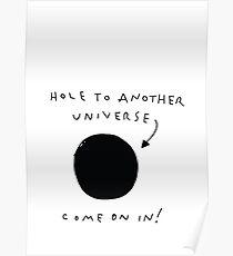 Loch in ein anderes Universum Poster
