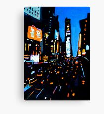 Night-time, New York Canvas Print