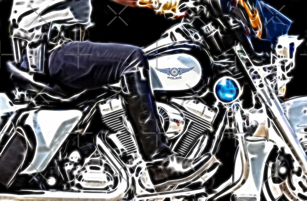 Motorcycle Cop by Beverlytazangel