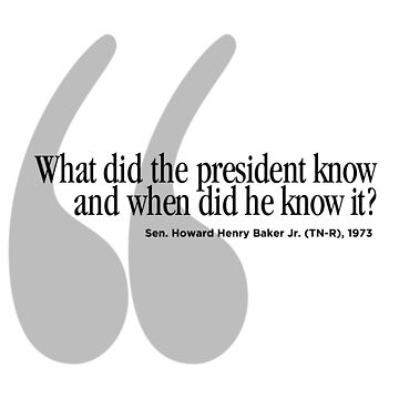 What Did the President Know, When Did He Know About It? Sen. Howard Baker, 1973, Michael Avenatti by ScottSakamoto