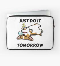 Just Do It Tomorrow Sleeping Corgi Laptop Sleeve