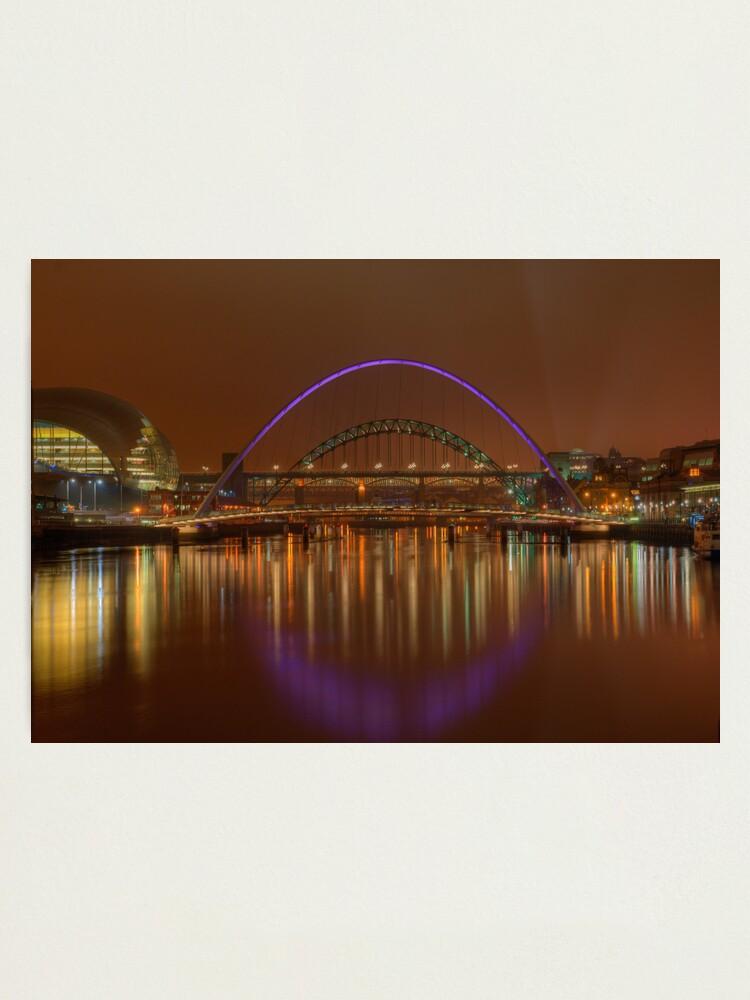 Alternate view of Tyne Bridges Photographic Print
