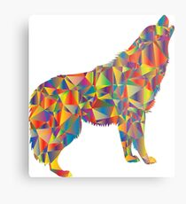 HOWLING Colourful DIRE Wolf Metal Print