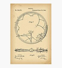 1894 Patent Velocipede Bicycle Unicycle history invention Photographic Print