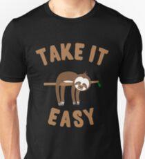 Take It Easy Sloth T-shirt unisexe