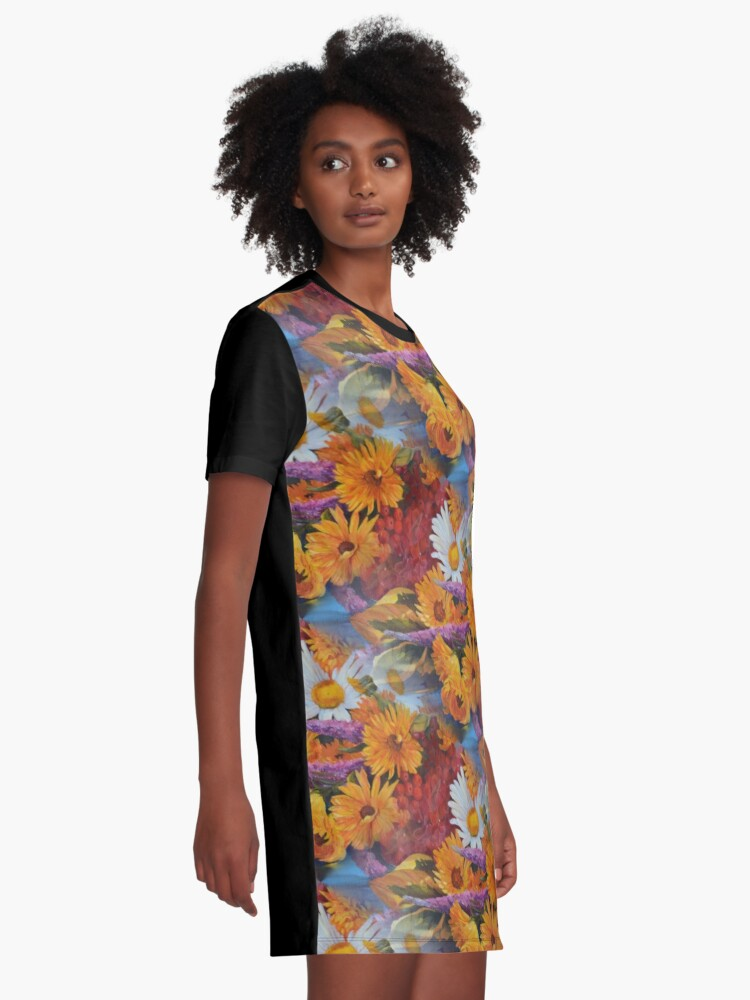 Alternate view of From With a Kiss from the sun Graphic T-Shirt Dress