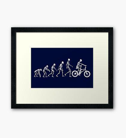 Evolution BMX Skeletons Framed Print