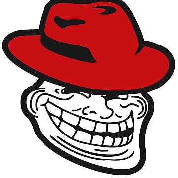 DevOps Redhat Trollface Sticker by coderman