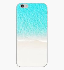 Sand beach with turquoise sea waves iPhone Case