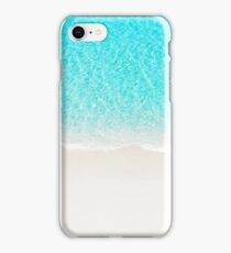 Sand beach with turquoise sea waves iPhone Case/Skin