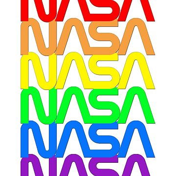 NASA official images logo worm rainbow by Val-Universe