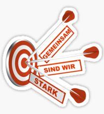 Gemeinsam Stark Sticker