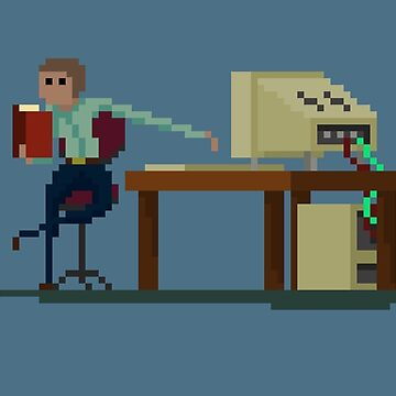 Working Hard or Hardly Working by Pixel-Bones