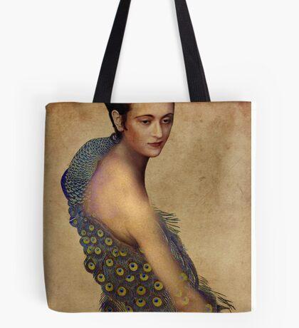 Peacock dress Tote Bag