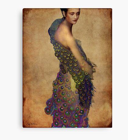 Peacock dress Canvas Print