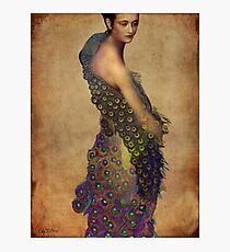Peacock dress Photographic Print