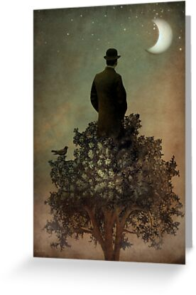 Man in tree by Catrin Welz-Stein
