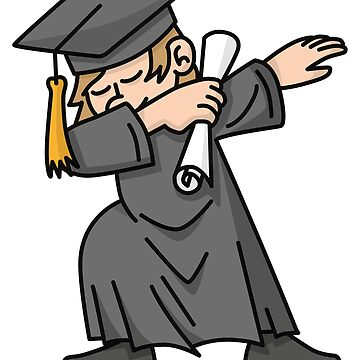 Boy student dab dabbing graduation school by LaundryFactory