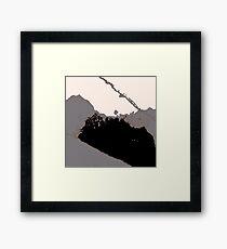 Organic No.16 Abstract #muted #redbubble #artprints #fineart #decor  Framed Print