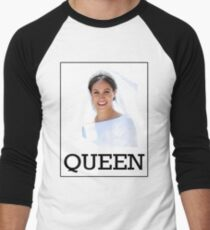 Meghan Markle - Queen Baseball ¾ Sleeve T-Shirt