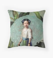 Morning Dew Girl Throw Pillow