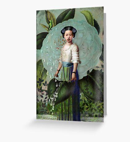 Morning Dew Girl Greeting Card