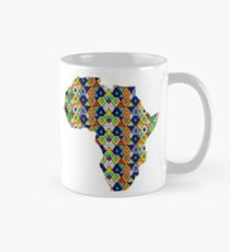 Zulu Beads in Shape of Africa  Mug