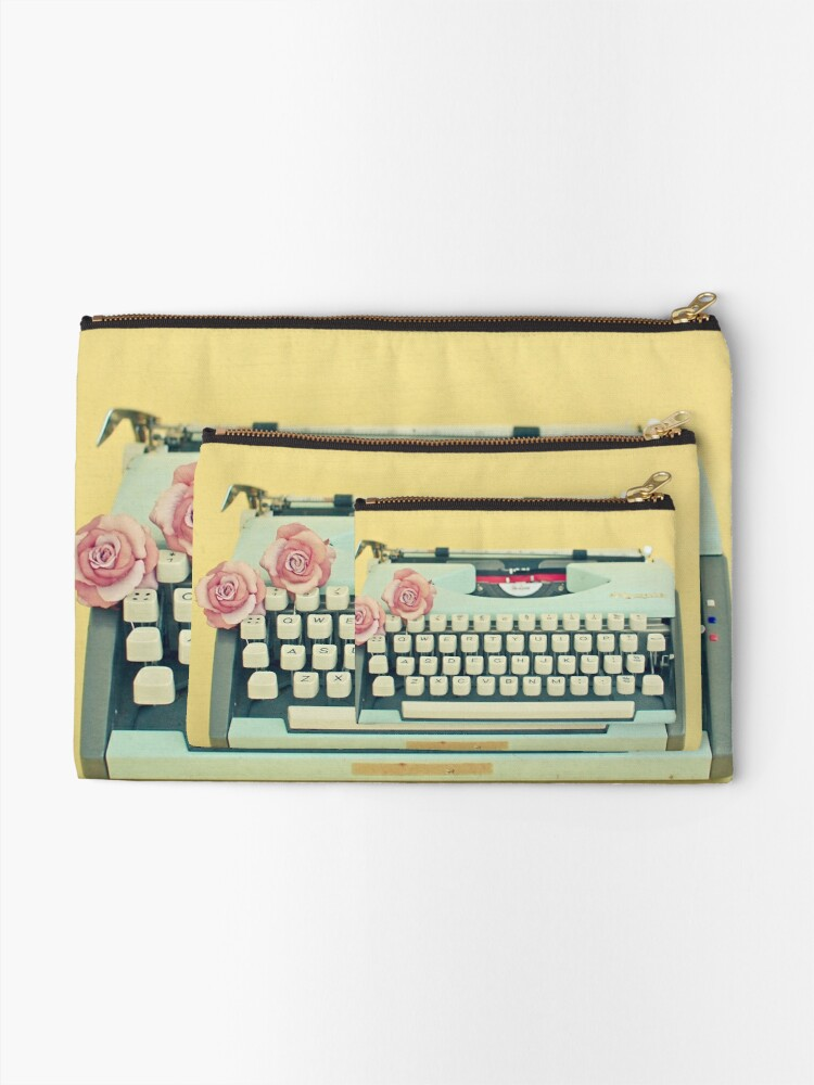 Alternate view of The Typewriter Zipper Pouch