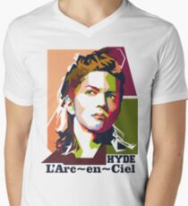 Hyde LarcEnCiel WPAP Style Men's V-Neck T-Shirt