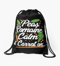 Peas Romaine Calm And Carrot On Drawstring Bag