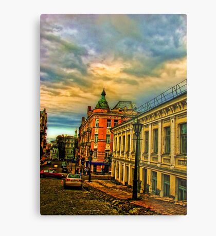 Andreevski Spusk at sunset Metal Print