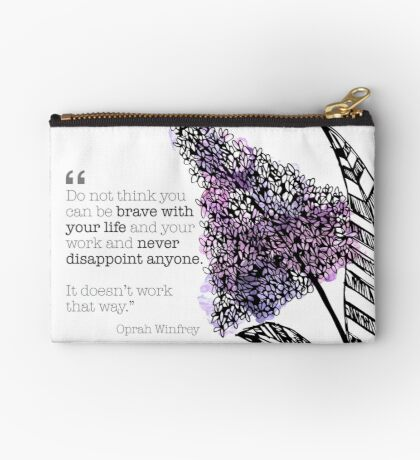 Lilac Watercolor with Quote Studio Pouch