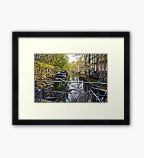 Bicycles in Amsterdam Framed Print