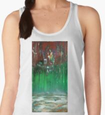 Burning Forest by Frozen Lake Women's Tank Top