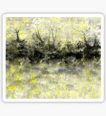 Yellow and Black Landscape Sticker