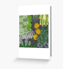 Tettegouche Moss and Lichen Collage Greeting Card